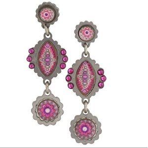 Ayala Bar Modern Bohemian Earring-pink, NWT